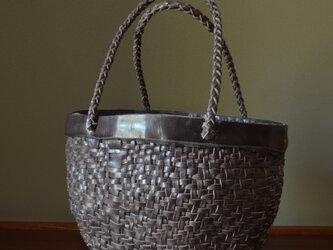 Leather Basket Bag  【Large】の画像