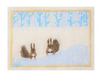 雪あそび(エゾリス)の画像