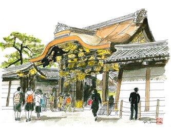 京の水彩画 A4サイズ 「二条城」の画像