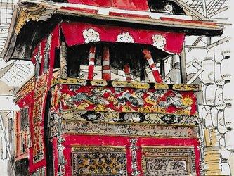 京の水彩画 A4サイズ 「祇園祭」の画像