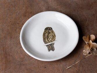 粉引丸皿(アオバズク)【クリックポスト198円可】の画像