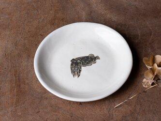 粉引丸皿(コブシメ)【クリックポスト198円可】の画像