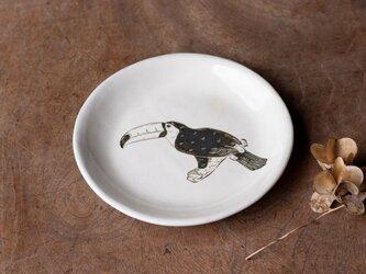 粉引丸皿(オニオオハシ)【クリックポスト198円可】の画像