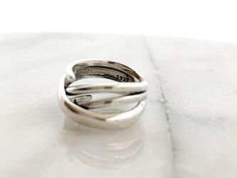 Silver925 Cross line wide ringの画像