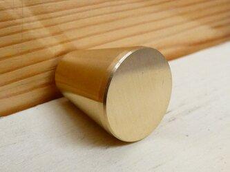 Φ16㎜ 真鍮無垢 プリン型のシンプルなツマミ /  小物入れや引き出しなどに。 DIY家具 取っ手 通販。おしゃれ。の画像