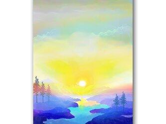 「聖と俗のはざまで」 ほっこり癒しのイラストポストカード2枚組 No.1068の画像