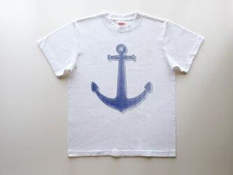 新作・海色の ⚓︎⚓︎⚓︎ 5.6oz Tシャツ white <受注制作>の画像