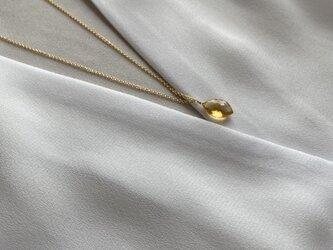 14kgf シャンデリアブリオレットカット宝石質シトリンネックレス45cmの画像