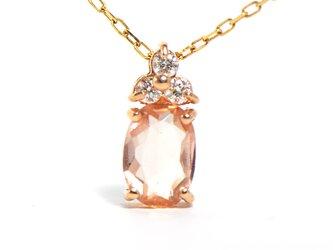 K18 インペリアルトパーズ×ダイヤモンド ペンダント K18ピンクゴールド リス YK-BN017CIの画像