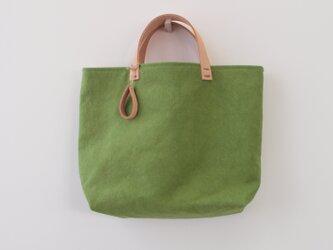 『ご予約品』永山様手染め帆布トートバッグMサイズ □草緑色□の画像