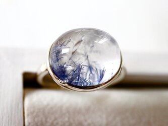 深海庭園デュモルチェライトinクォーツ ringの画像