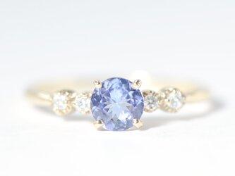 K10 タンザナイト×ダイヤモンド リング K10イエローゴールド ティナ BO020CIの画像