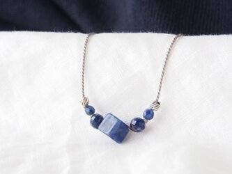 Blue Short Necklace(ソーダライト)の画像
