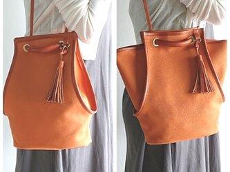 1号帆布と栃木レザーの2wayバッグの画像