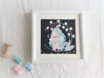 sold out 原画「スズラン」アマビエさまの画像