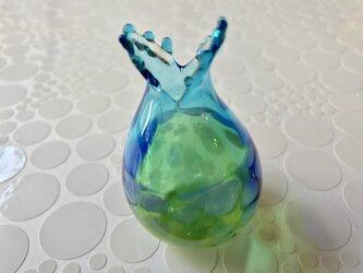 海の魚な小びん①(ブルー)の画像