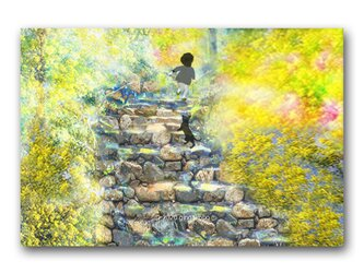 「それぞれの試練」 ほっこり癒しのイラストポストカード2枚組 No.1069の画像