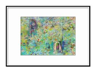 「画家の家と詩人の窓」 ほっこり癒しのイラストA4サイズポスター No.736の画像