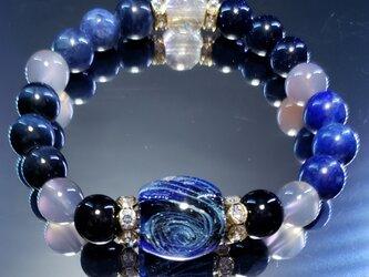 トンボ玉&天然石ブレスレット~BP0070~の画像