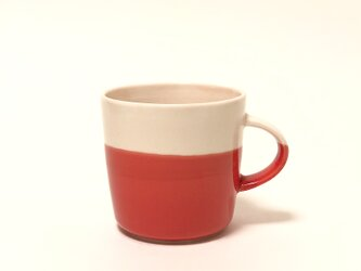 Mug cup M / ピンク×赤の画像