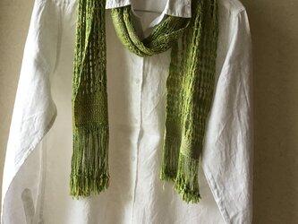 草木染め レース織ストール の画像