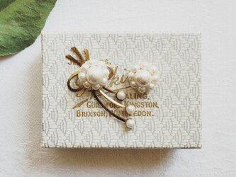 ◇2wayピアス◇◇limited◇◇*vintage*/brass×パール*ruban-bouquet*の画像