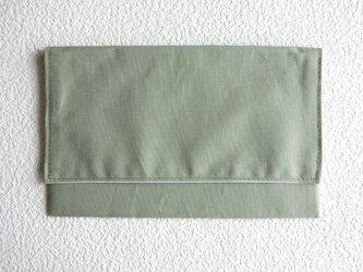 マスク携帯収納ケース 布製品 (受注製作品)カーキ無地の画像
