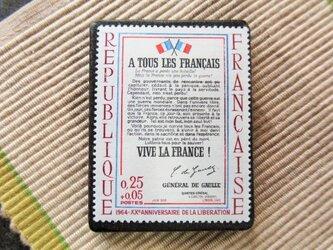 フランス 美術切手ブローチ6187の画像
