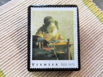 フランス 美術切手ブローチ6188の画像