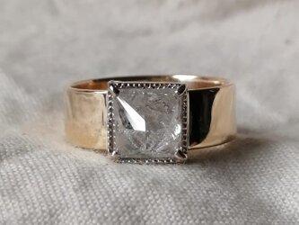 スパークリングホワイトシルバーカラーナチュラルダイヤモンドリングの画像