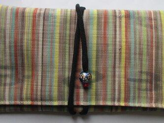 4870 縞の着物で作った和風財布・ポーチ #送料無料の画像