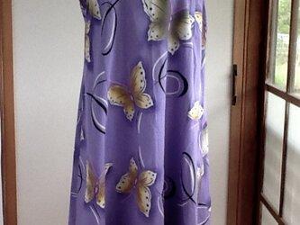 薄紫のワンピースの画像