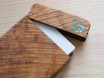 木製名刺入れ 究極ハワイアンコア 【フィッシュフック】一点ものの画像
