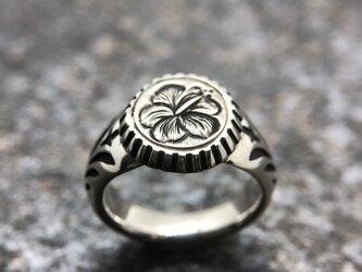 """Hawaiian Signet Ring """" ハイビスカスのハワイアン・シグネットリング""""の画像"""