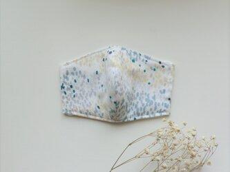 夏色マスク ふんわり薄地ダブルガーゼ(グレーグリーン柄)受注制作の画像