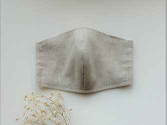 涼しさNO.1 夏マスク さらりとリネン(オートミール色)受注制作の画像