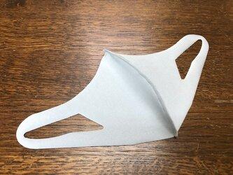 【冷感 夏用マスク】UVカット UPF50+ 立体マスク 水着素材 速乾 洗えるマスク 男女兼用 伸縮性あります グレーの画像