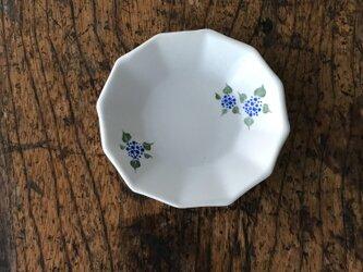 色絵12角 豆皿 アジサイの画像