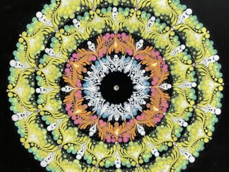 『春風』曼荼羅(まんだら)アート 20センチ角額込みの画像
