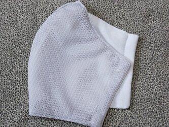 立体マスク〜受注生産〜薄グレーメッシュの画像