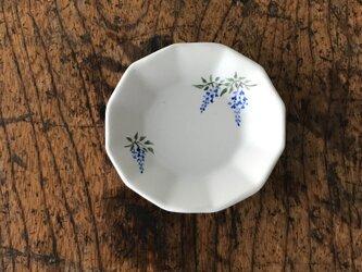 色絵12角 豆皿 フジの画像
