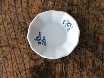 色絵12角 豆皿 アサガオの画像