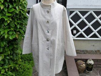 着物リメイク 手作り 綿かすりの反物から ジャケットの画像