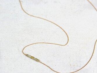 K18 キューブ イエローダイヤモンド ネックレスの画像