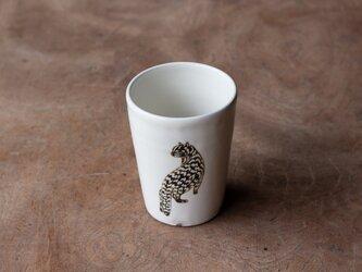 粉引フリーカップ(イリオモテヤマネコ)の画像