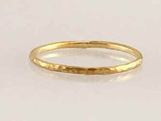 1号size限定◇試作品のため特価#1◇K24 Pure Gold Ring◇純金の指輪/リング(0.9mm幅)1号の画像