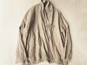 リネン・ショートローブコートの画像