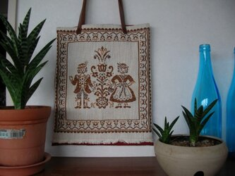 <Sold>チロルの布と帯地の手提げの画像