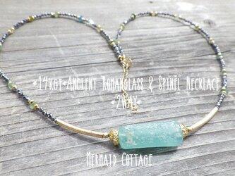 ☆再販☆*14kgf*Ancient Romanglass&Spinel Necklace *2WAY*ローマングラスの画像