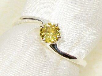 0.32ctスフェーンとSV925の指輪(リングサイズ:12号、ロジウムの厚メッキ、天然石)の画像